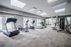 treadmills, ellipticals, and other equipment available for use