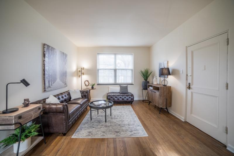 front door opens to open living room