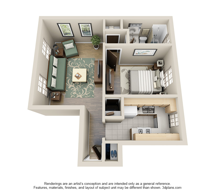 The Franklin is a 1 bed 1 bath, 710 sqft. apartment